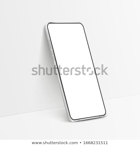 Isometric smartphone. Vector 3d illustration. Stock photo © RAStudio
