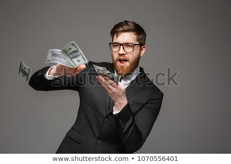 Stock photo: Gray Suit Businessman money