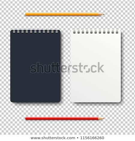 notebook isolated with two pencil transparent background stock photo © cammep