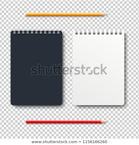 Notebook isolato due matita trasparente gradiente Foto d'archivio © cammep