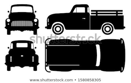 Retro farmer pickup truck Stock photo © Genestro