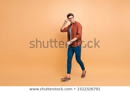 Macho hipster man in fashion clothes isolated  Stock photo © NikoDzhi