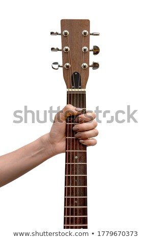 Stock photo: Rocker holding guitar