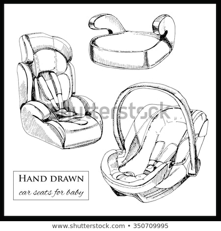 Baby car seat hand drawn outline doodle icon. Stock photo © RAStudio