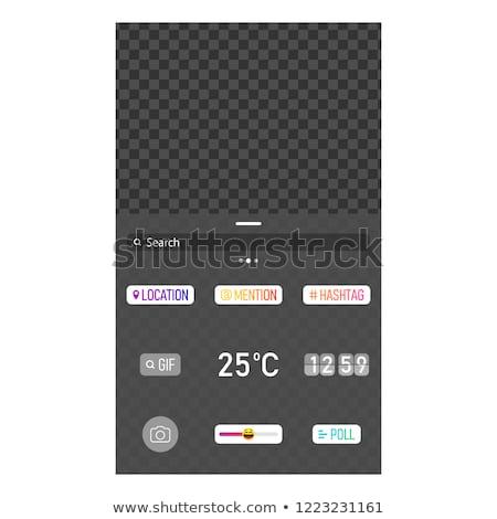 Interface modelo popular vetor Foto stock © AisberG