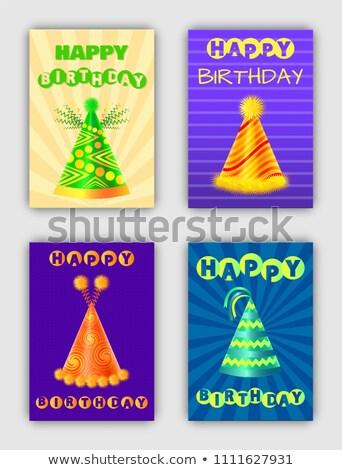 Kreatív évforduló bannerek vektor sapkák fejviselet Stock fotó © robuart