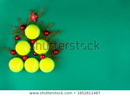 テニス テニスボール ヘッドホン コメンテーター 白 スポーツ ストックフォト © m_pavlov