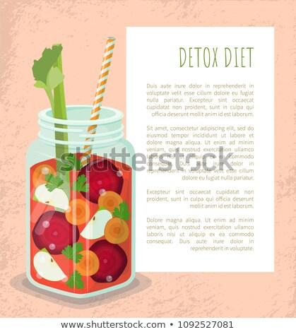 nourriture · végétarienne · affiche · été · régime · alimentaire - photo stock © robuart
