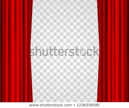 Piros színház függönyök átlátszó gradiens háló Stock fotó © barbaliss