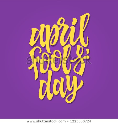 April Fools Day - vector hand drawn brush pen lettering Stock photo © Decorwithme