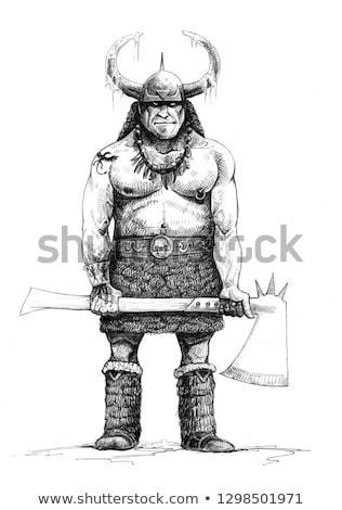 Cartoon Orc Idea Stock photo © cthoman