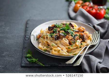 pasta linguine with green spices stock photo © grafvision