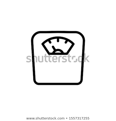 Bathroom scale icon on a black background Stock photo © Imaagio