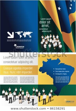 Klasör bayrak Brezilya Dosyaları yalıtılmış beyaz Stok fotoğraf © MikhailMishchenko
