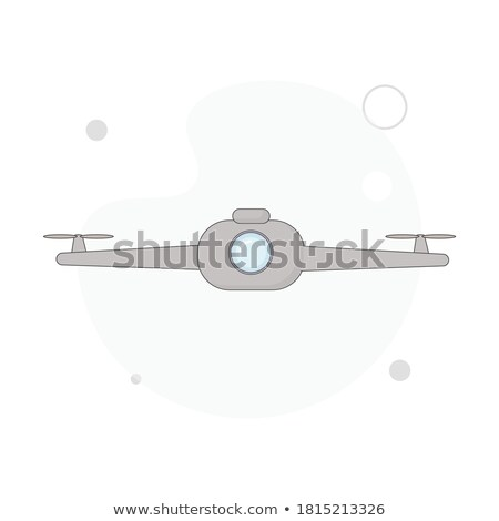 Drone Vector. Remote Aerial Quadcopter. Photo, Video, Delivery. Isolated Flat Cartoon Illustration Stock photo © pikepicture