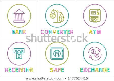 Bank Fonds sicher Skalen Währung Austausch Stock foto © robuart