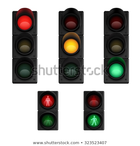 set of realistic traffic lights for pedestrians stock photo © marysan