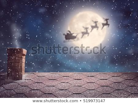 merry christmas santa and sleigh concept stock photo © colematt