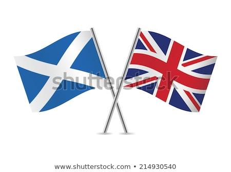 Dos banderas Escocia aislado blanco Foto stock © MikhailMishchenko
