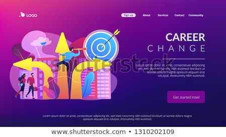 Career change concept landing page. Stock photo © RAStudio
