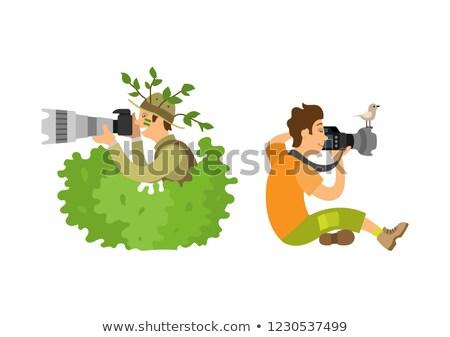 photographie · matériel · d'éclairage · vecteur · photo · studio - photo stock © robuart