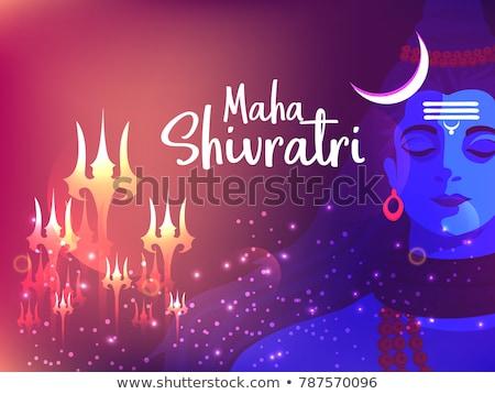 lord shiva trishul on glowing shivratri background Stock photo © SArts