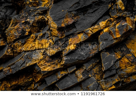 Stock photo: Dark grey ore black slate background or texture, Dark stone background, stone texture