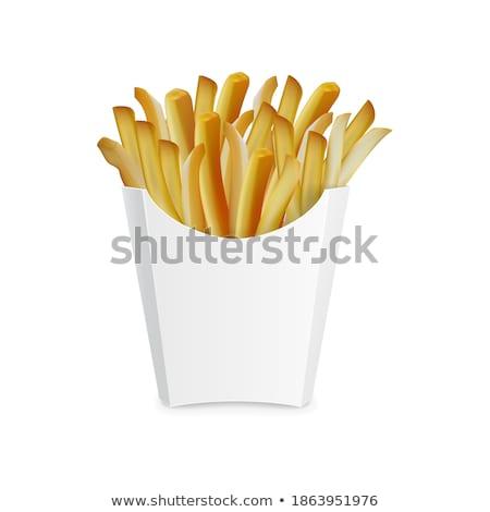 Fast-food patates kızartması poster metin örnek Stok fotoğraf © robuart