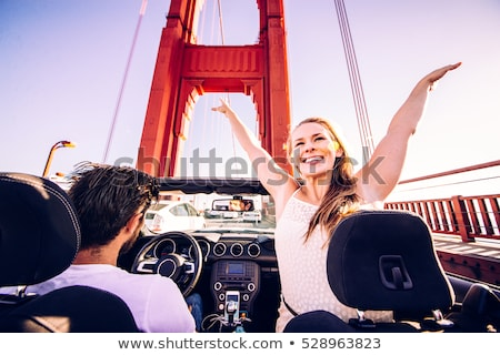 woman driving convertible car in san francisco Stock photo © dolgachov