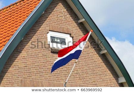 Casa bandera Países Bajos blanco casas Foto stock © MikhailMishchenko