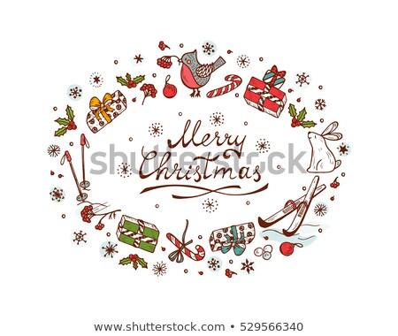 Vrolijk christmas weer vector huis Stockfoto © robuart