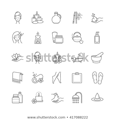 spa salon hair and body skin care icons set vector stock photo © robuart
