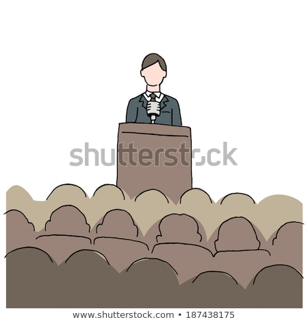 Cartoon man making a speech. Stock photo © bennerdesign