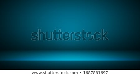 empty blue studio room interior clean workshop for photography or presentation vector illustration stock photo © olehsvetiukha