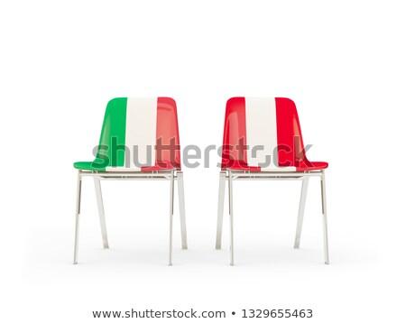 Dos sillas banderas Italia Perú aislado Foto stock © MikhailMishchenko