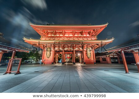 Porte pagode temple Tokyo Japon nuit Photo stock © daboost