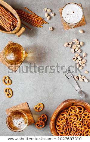 Różny orzechy kamień tabeli górę widoku Zdjęcia stock © Valeriy