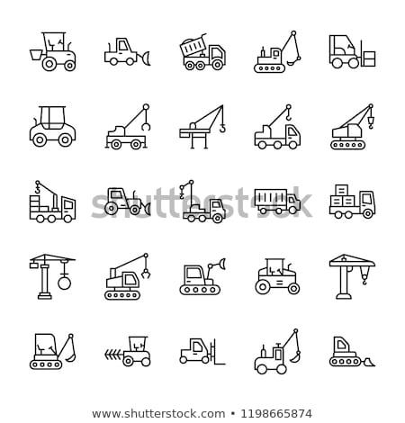 建設 機械 アイコン 白 シルエット 産業 ストックフォト © biv