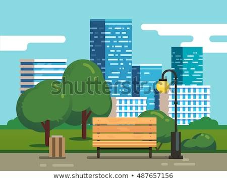 summer city   modern flat design style vector illustration stock photo © decorwithme