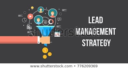 Foto stock: Sales Funnel Lead Generation Business Concept