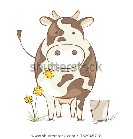 Cartoon cow with an idea Stock photo © bennerdesign
