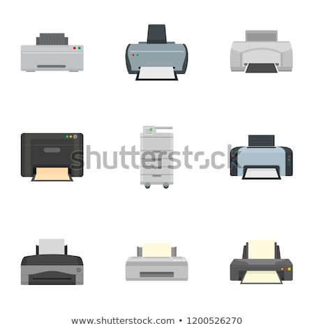 vector set of printer Foto stock © olllikeballoon