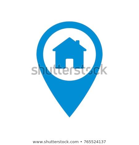 Ház tő grafikai tervezés sablon vektor izolált Stock fotó © haris99