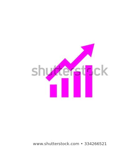 Statistisch grafiek munten icon verschillend valuta Stockfoto © smoki