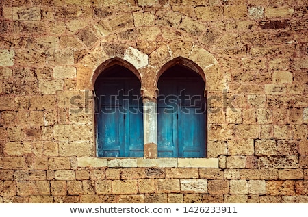 Beautiful window of ancient monastery Stock photo © Anna_Om