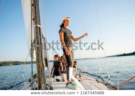 Avontuur mensen hoog zee vrouw hemel Stockfoto © Lopolo