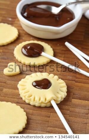 グルメ · クッキー · 休日 · 表 · ドリンク · ミルク - ストックフォト © melnyk