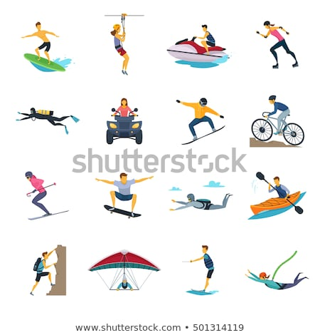 Extreme sports flat icon set Stock photo © netkov1