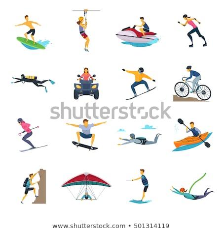 Ekstremalnych sportowe eps 10 projektu Zdjęcia stock © netkov1