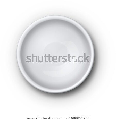 Empty White Ceramic Dip Bowl For Sauces Vector Stock photo © pikepicture